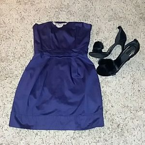 French Connection Royal Purple Classy Mini Dress